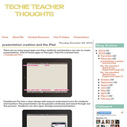 presentation creation and the iPad
