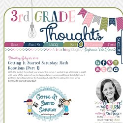 Getting It Started Saturday: Math Rotations {Part 1}