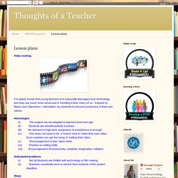 Thoughts of a Teacher: Lesson plans