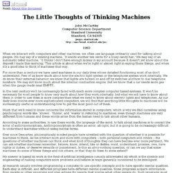 The Little Thoughts of Thinking Machines