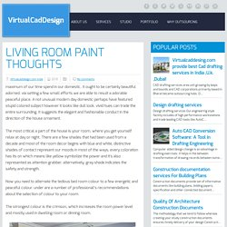 living Room Paint thoughts ~ VirtualCadDesign