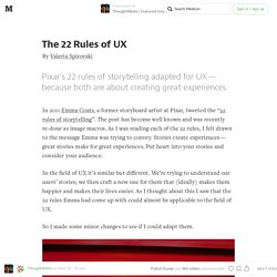 The 22 Rules of UX — ThoughtWorks