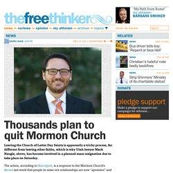 Thousands plan to quit Mormon Church