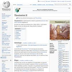 Thoutmôsis (Thoutmès) II