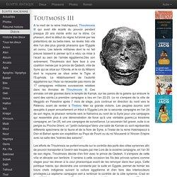 THOUTMOSIS III