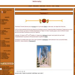 Thoutmosis I pharaon de l'égypte antique