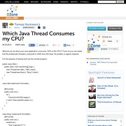 Which Java Thread Consumes my CPU?
