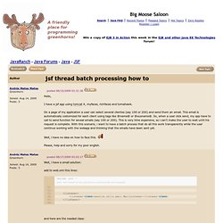 jsf thread batch processing how to