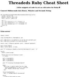 Ruby Cheat Sheet