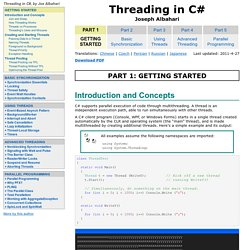 Threading in C# - Free E-book - FrontMotion Firefox