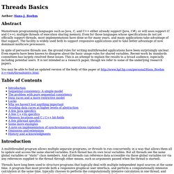 Threads Basics