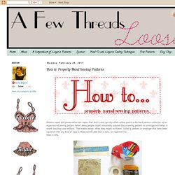 A Few Threads Loose: How to Properly Mend Sewing Patterns