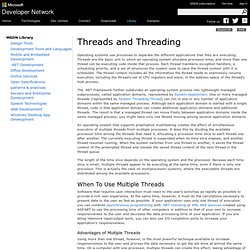 Threads and Threading