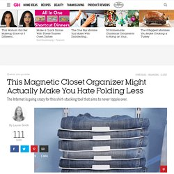 Threadstax Kickstarter Clothing Organizer - Magnetic Clothing Organizer