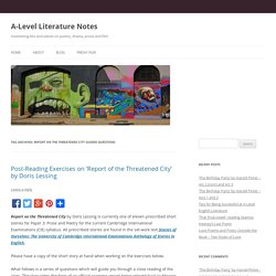 Report On The Threatened City Guided Questions
