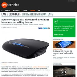 Lawyers threaten redditor over negative router review on Amazon