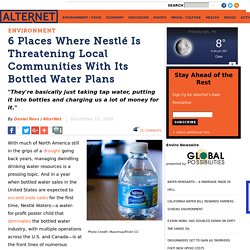 6 Places Where Nestlé Is Threatening Local Communities With Its Bottled Water Plans