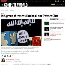 ISIS group threatens Facebook and Twitter CEOs