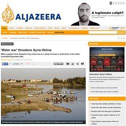 'Water war' threatens Syria lifeline