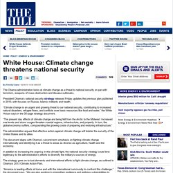 White House: Climate change threatens national security