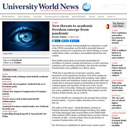 New threats to academic freedom emerge from pandemic