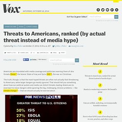 social construction of a problem - Threats to Americans, ranked (by actual threat instead of media hype)