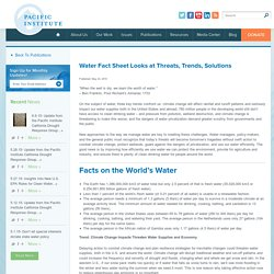 Water Fact Sheet Looks at Threats, Trends, Solutions
