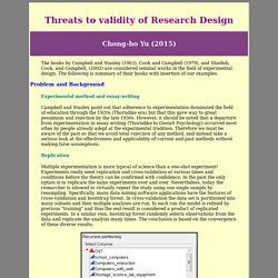Threats to validity of Research Design