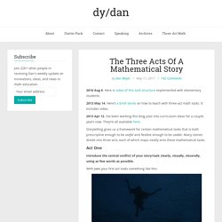 The Three Acts Of A Mathematical Story