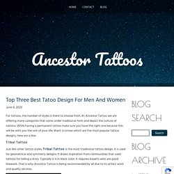 Top Three Best Tatoo Design For Men And Women