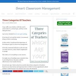 Three Categories Of Teachers