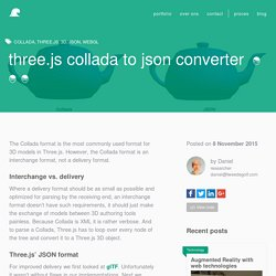 Three.js Collada to JSON converter
