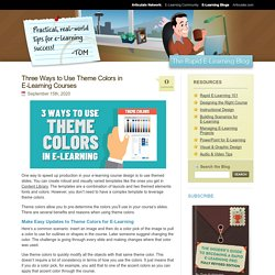 Three Ways to Use Theme Colors in E-Learning Courses