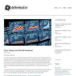 D3.js, Three.js and CSS 3D Transforms — delimited