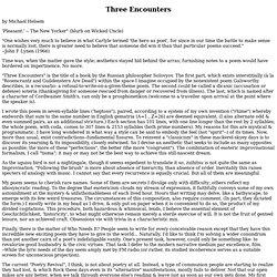 Three Encounters (1)