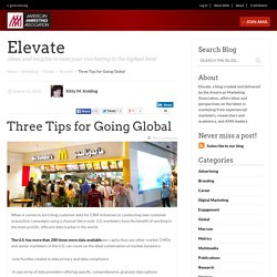 Three Tips for Going Global