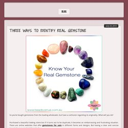 Identify The Real Gemstone Accurately