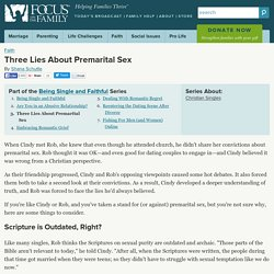 Three Lies About Premarital Sex