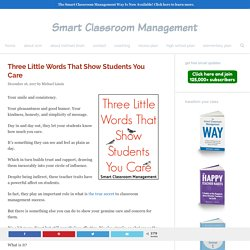 Three Little Words That Show Students You Care