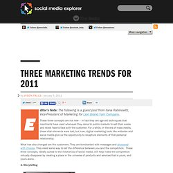 Three Marketing Trends for 2011