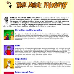 Three Minute Philosophy