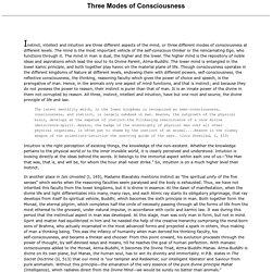 Three Modes of Consciousness