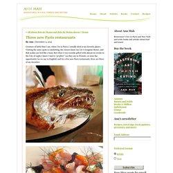 Three new Paris restaurants