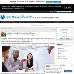 Top Three Online Data Science Courses for 2020