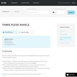 Three Plesk panels - Media Temple