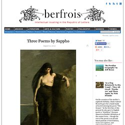 Three Poems by Sappho