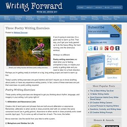 Three Poetry Writing Exercises