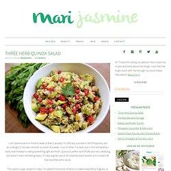 Three Herb Quinoa Salad