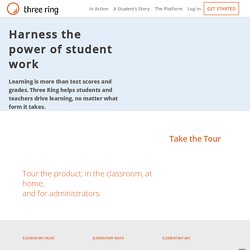 Three Ring | An App for Teachers to Create Educational Portfolios of Student Work with an iPhone, iPad, or Android Smartphone