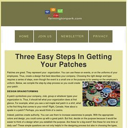 Three Easy Steps in Getting your Patches